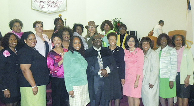 L to R 1st Row: Mrytle Foster, Ruth Harris, Annette Weathington (President), Rev. Paul S. Munford, Darnetta Duncan, Twillea Evans-Carthen, Harriet Moore, Joni Wright; 2nd Row L to R: Devorlynn Celestine, Carol, Yvonne Ashe, Geri Fox-All Kater, Earnestine Warren, Alice LaTouche,  Olivia Taylor-Smith, Lorraine Melbourne)
