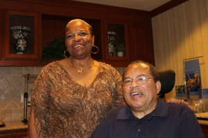 Brown's Husband,  Hardy Brown, enjoyed reconnection with a longtime friend