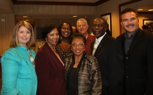 Janice Rutherford;   Amina Carter;   Fontana Mayor, Warren;  Cheryl Brown;   unidentified;   Darren Parker;   unidentified