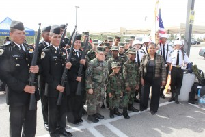 Assembly Member, Cheryl Brown, & units of Fontana 'Jr ROTC'. (Photo Credit: John Coleman)