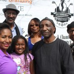 The Southern California Black Chamber of Commerce  was one of the sponsors of the Fontana Black History parade & Expo.  President, SCBCofC, Inland Cities-East 'Chapter', Tammy Martin-Ryles, & members:  Navarre Bell;   daughter, Bailey Ryles;   Stacey Bettis;   Richard Wallace;   & Dr Floyd Milner. (Photo Credit: John Coleman)