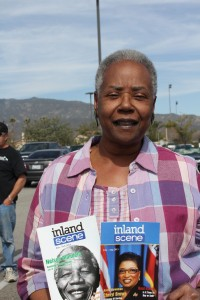 "Nedra Myricks, Editorial Staff of the ""Inland Scene"" Magazine that features Ms Brown on it's ""Lifetime of Service"" cover/edition. (Photo Credit: John Coleman)"