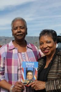 Myricks and Assmemblywoman Cheryl Brown (Photo Credit: John Coleman)