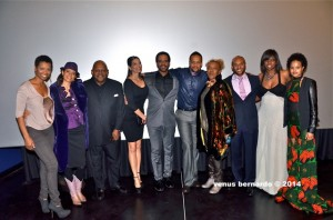 "(l-r) Vanessa Williams, PAFF Celebrity Juror Erica Gimpel, PAFF Life Time Achievement Award recipient Charles Dutton, Kristoff St. John,  Jamil XT Qubeka, CCH Pounder, Nicki Micheaux & ""Of Good Report"" Co-Star Petronella Tshuma  (Venus Bernardo)"
