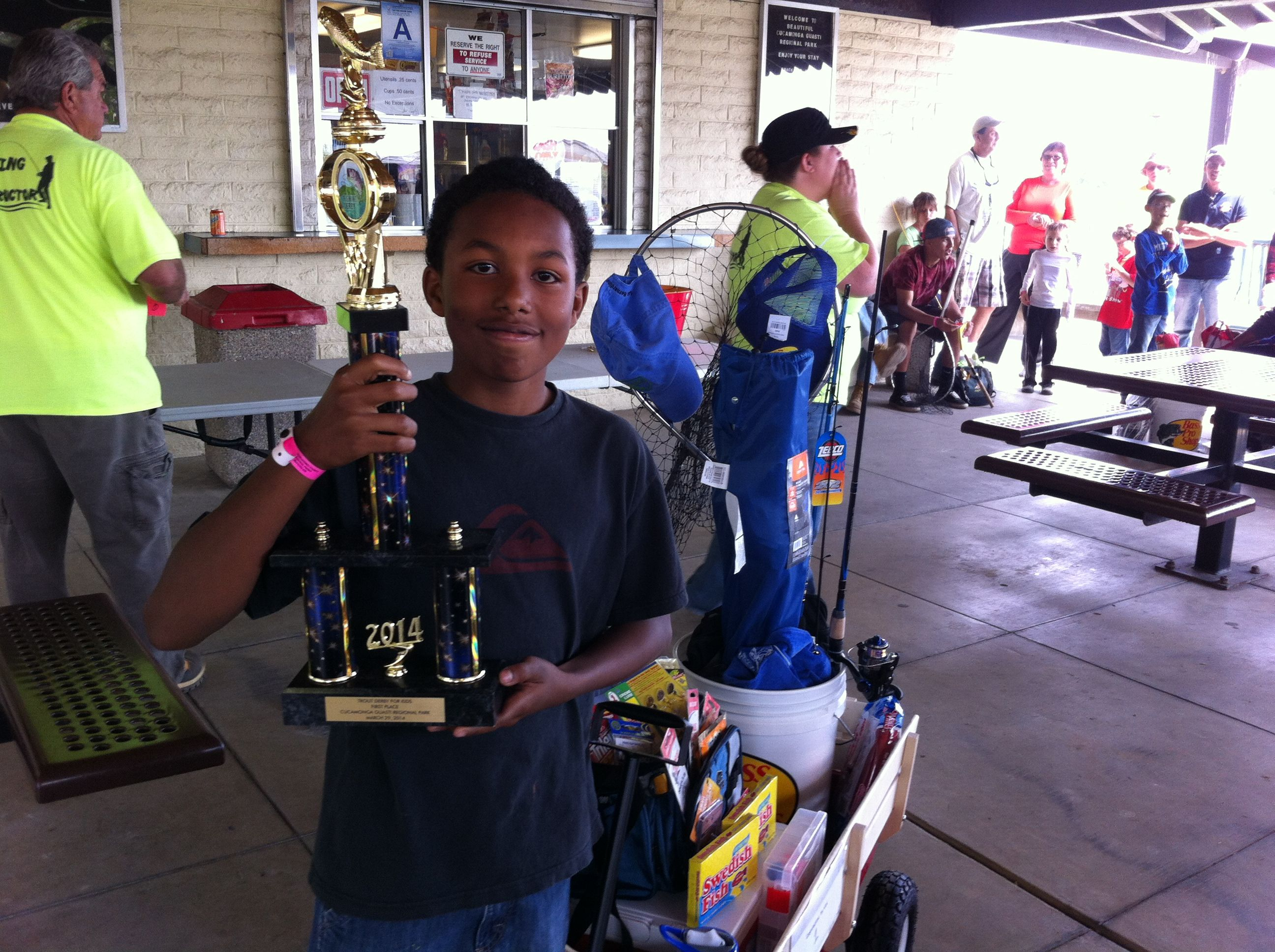 Local youth win big at annual trout derby for kids for Guasti park fishing