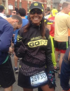 Yolanda Holder at the Boston Marathon