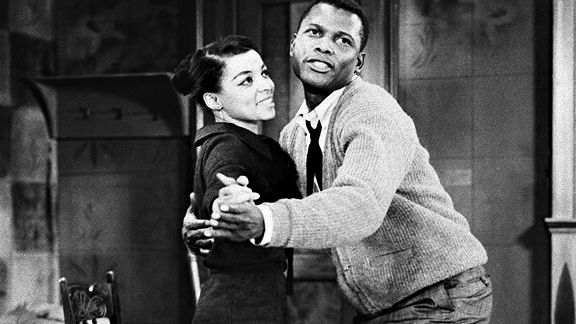 Ruby Dee and Sidney Poitier