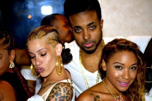 Celebrity producer Bugsy On Da Beat with a couple of the ladies