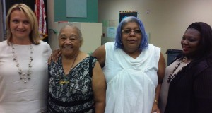 (center left) Community organizer and Executive Director of Parents of Watts, Sweet Alice Harris, and (center right) CEO of WWAM Inc./I.S.A.H., Dr. Deborah Winn.