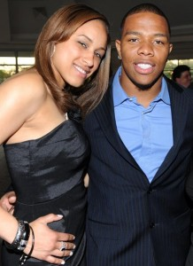 Ray Rice and Janay Rice