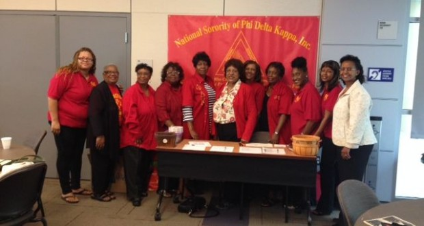 Members of National Sorority of Phi Delta Kappa, Inc. and Delta Rho Chapter for the Far Western Region