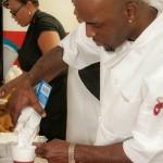 Chef Lanoris Brown fixing up something great