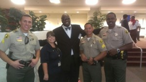 Rev. Sam Casey with members of the SB County Sheriff Department (Photo Credit: Angela M. Coggs)