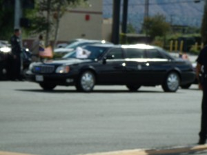 Joe Biden arriving to event. (Photo taken by Izaiah Frazier)
