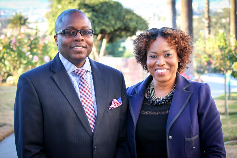 Drs. Ed McField (left) and Sherma Charlemagne-Badal.