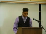 1st Place: Khari Bush, Sr. Carter High School