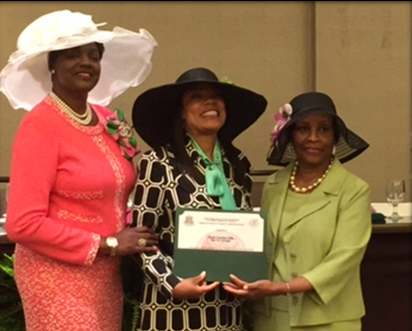 Featured in picture from left to right: Mrs. Dorothy Buckhanan Wilson, Alpha Kappa Alpha Sorority, Incorporated International Supreme President, Mrs. Candra Loftis, Dr. Barbara Denson Trotter, Far Western Regional Director
