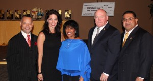 From left:  Dr. Joshua Beckley, CAPSBC Board Chairman, Julie Borlaug, Borlaug Institute of International Agriculture at Texas A&M; Patricia L. Nickols-Butler, CAPSBC Chief Executive Officer; Robert Lovingood, Vice-Chairman, San Bernardino County Board of Supervisors, First District; and James Ramos, Chairman, San Bernardino County Board of Supervisors, Third District.
