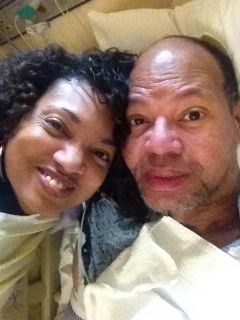 Wife Malaika and Carl at Loma Linda Universiy Medical Center