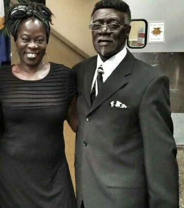Lou Coleman and Pastor Robert L. Fairley, D. Minister of New Hope Missionary Baptist Church