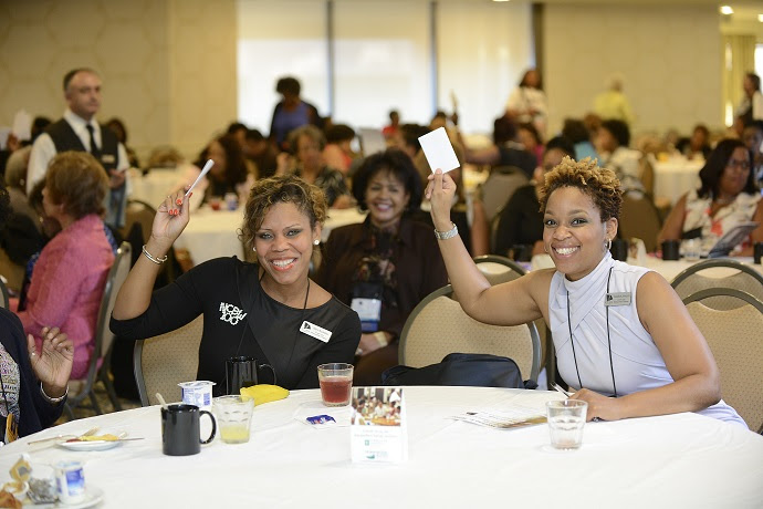 "Members of National Coalition of 100 Black Women (NCBW) participated in a raffle from Embassy Suites by Hilton and Homewood Suites by Hilton at the NCBW 17th Biennial Conference in Long Beach, California. Winners received free accommodations at Embassy Suites by Hilton or Homewood Suites by Hilton as part of  ""Count on It,"" a multicultural marking campaign focused on simplifying family reunion planning. All raffle participants were enrolled in Hilton HHonors, the free, award-winning guest-loyalty program for Hilton Worldwide's distinct hotel brands. (Photo Credit: CaughtInTheMoment.com)"