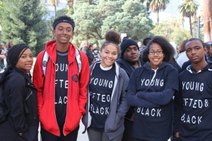 Cajon High School Students: Ashley Rodgers (10th), Yonathan Habtemariam(9th), Brianna Robertson(10th), Lyndon Nicholls(12th), Cherq'uora Hunn (10th), and Terriq Singer(11th)