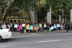 Student Rally in front of the Department of Education, Sacramento, Ca