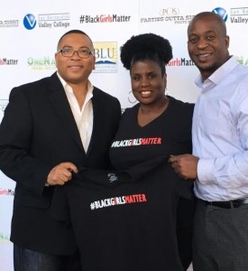 Dina Walker, Founder of BLU, pictured with community leaders (l to r) Hardy Brown II and Jonathan Buffong