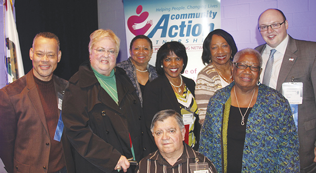 Patricia L Nickols-Butler, President, & CEO, CAPSBC, (center) & Members , Community Action Partnership Board of Directors,  (not in the order named):  Dr Margaret Hill,   Joanne Gilbert,    Nancy R White,    John 'Fred' Sagoe    Dr Joshua Beckley,    William Anthony Ruh,    Eladio 'Eddie' U Garcia,    Deborah Robertson,    Daniel Enz,    Thomas Rice,    Socorro Enriquez,    Bob Lemley,  &   Tyneia Merritt.