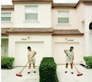 man-sweeping