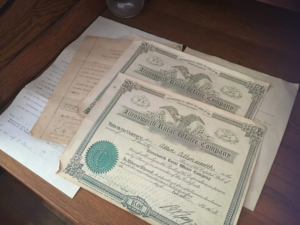 Allenstown- Water Company Documents