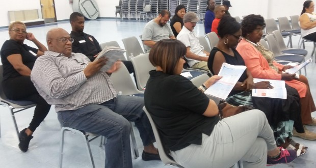 A portion of the Community Members attending the Forum reviewing the California Propositions and San Bernardino Measures