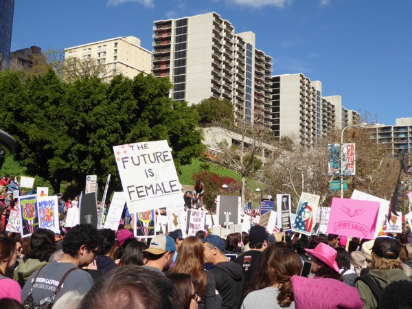 womens March LA future female sign