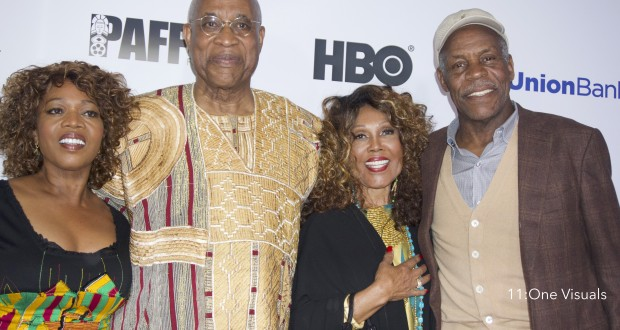 Founder of PAFF, Ayuko; Alfre Woodard, Danny Glover, and Ja'Net Du'Bois.  (Photo credit: Kristina Dixon/11:OneVisuals)