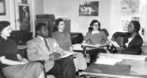 Dorothy Inghram (seated on the right) when she was principal of Mill School