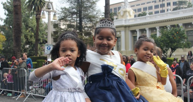 2016-17 Princesses of Park Avenue Baptist Church wave to the camera. (Photo Credit: John Coleman)