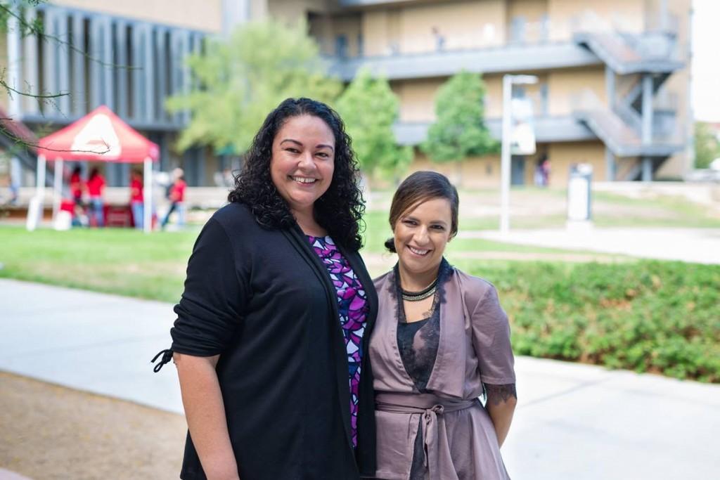 Alma Lopez (left) and Elizabeth Banuelos (right), SBVC's Puente Coordinators, are both alumni of the program they now lead at San Bernardino Valley College.