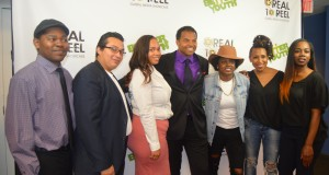Real to Reel staff (from left to right): Miguel Coleman, Ruben Garcia, Tynisha Lewis, Shawn Jackson, Johna Rivers, Syd Stewart, and Raquel Wilson. (Photo Credit: Naomi K. Bonman)