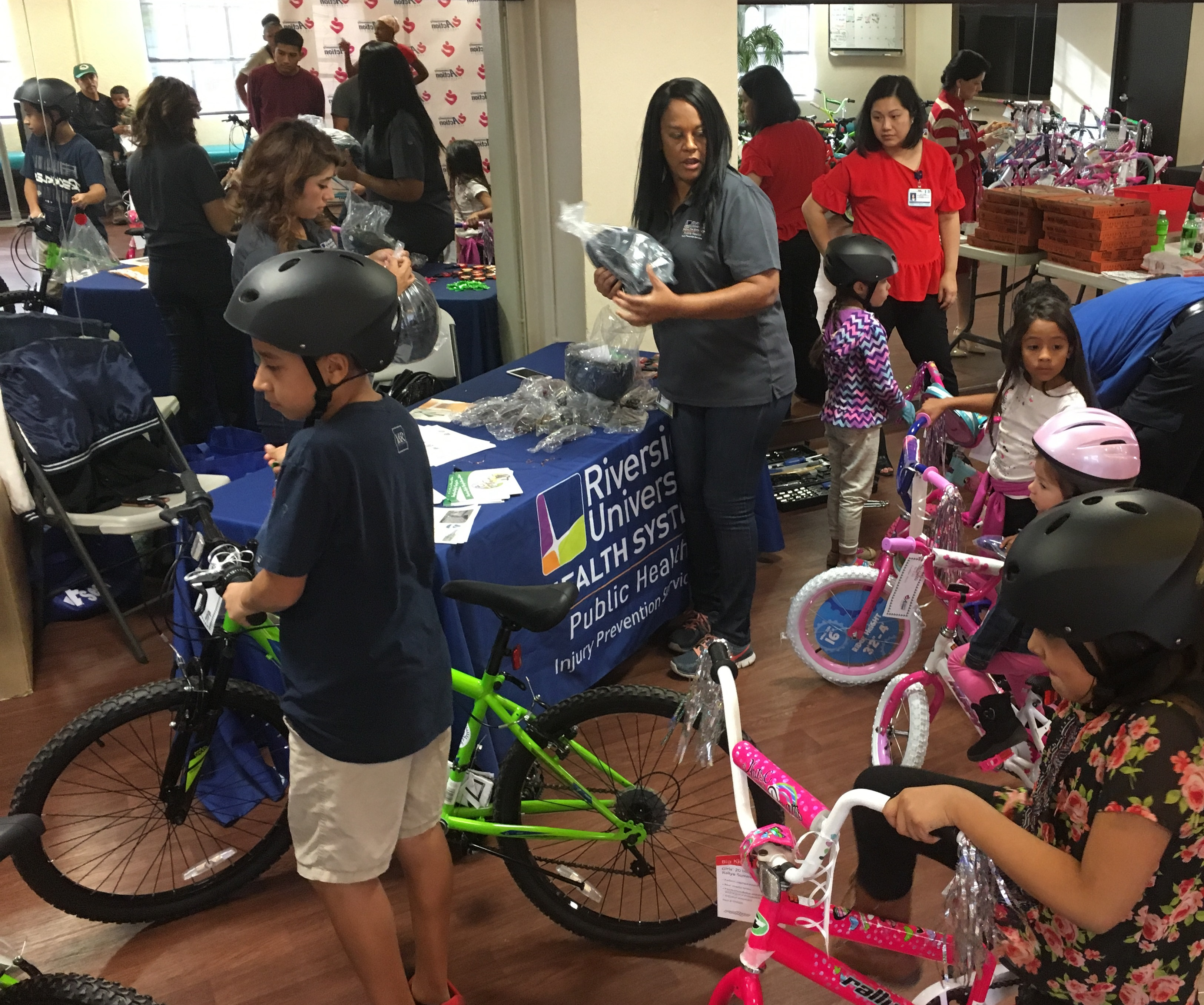 Children received free bicycles as Christmas presents on Tuesday, December 19 at an event in Perris. Riverside County's Community Action Partnership and Bicycles for Children, a non-profit based in Corona, is teaming up this year to provide 75 bicycles to children across the county who met the agencies' gift guidelines.