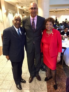 Aubry Stone, president of California Black Chamber of Commerce, Assemblymember Chris Holden (D-Pasadena) Chair of CLBC, Alice Huffman, President of CA State NAACP